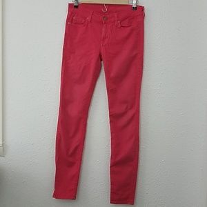 7 for all mankind Jeans the skinny pink 28